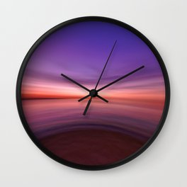 on the end of earth Wall Clock