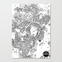 tokyo Canvas Prints featuring TOKYO by Maps Factory