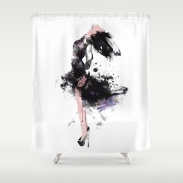 Fashion Painting #1 Shower Curtain