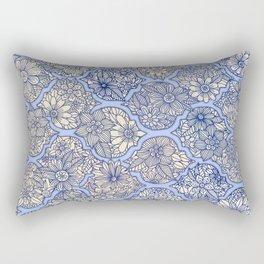 Moroccan Floral Lattice Arrangement - Purple Rectangular Pillow