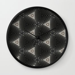 Triangles of Light Wall Clock