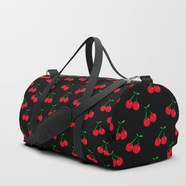 Cherries 2 (on black) Duffle Bag