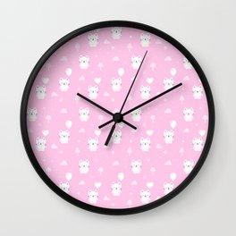 Baby Teddy Cats Wall Clock