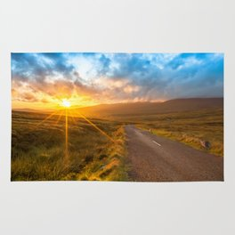 Sunset Wicklow Mountains Ireland Rug