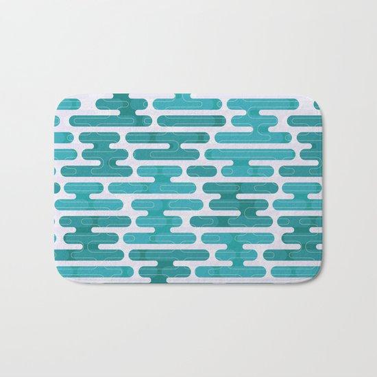 Modern japanese pattern. Bath Mat
