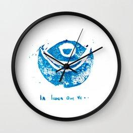 the seeing moon Wall Clock