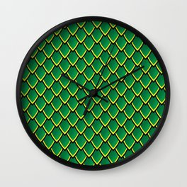 Dragon Scales (Green) Wall Clock