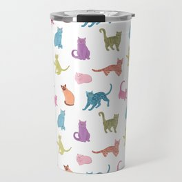 Colourful cats pattern Travel Mug