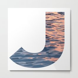 """""""J"""" Initial Water Metal Print"""