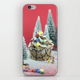 Christmas cupcake iPhone Skin