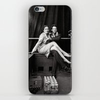 wes anderson iPhone & iPod Skins featuring WES & ANJELICA by VAGABOND