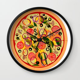 A Veggie Pizza, my Favorite Wall Clock