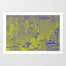 New York Buildings - Green Art Print