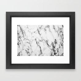 Marble #texture Framed Art Print