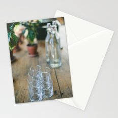 Wood Grain & Glasses  Stationery Cards