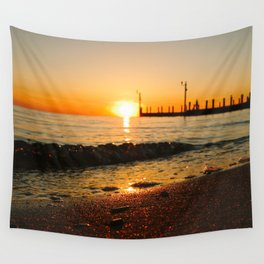 West Islip Sunset Wall Tapestry