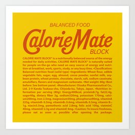 Metal Gear Solid - Calorie Mate Block Art Print