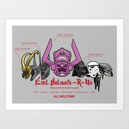 Evil Helmets-R-Us Art Print