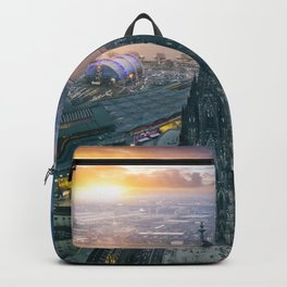 Sunset at the Rhine Backpack