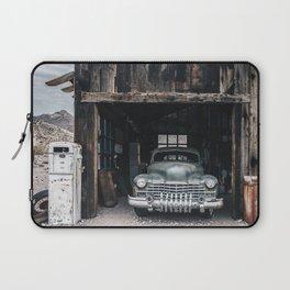 Old vintage car truck abandoned in the desert Laptop Sleeve