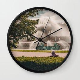 Fountain View 2 Wall Clock