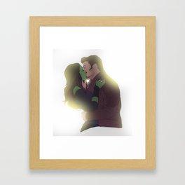 Galactic kiss Framed Art Print