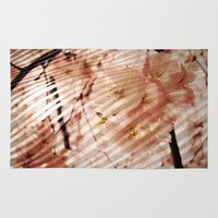 blossom Area & Throw Rugs featuring Blossom by KunstFabrik_StaticMovement Manu Jobst