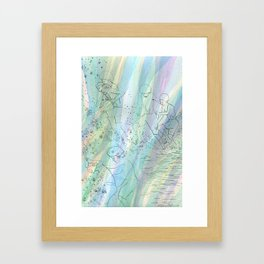 Kids at the paddling pool --study Framed Art Print