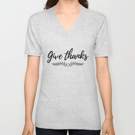 Give Thanks with Grapevine Unisex V-Neck