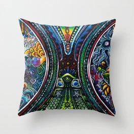 Ohmneuroflux Throw Pillow