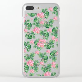 Tropical Clear iPhone Case