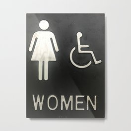 Able Women and Women on Wheelchair Metal Print