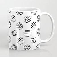 polka dot Mugs featuring Polka Dot by AndaLouz