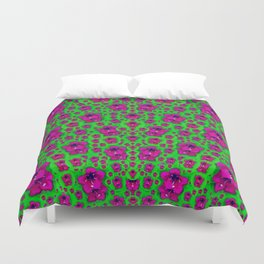 Fantasy Valentine in floral love and peace time Duvet Cover
