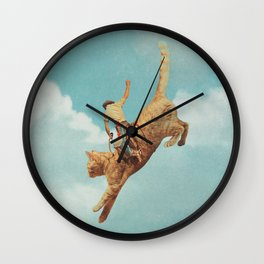 Meehaw - Rodeo Cat Wall Clock