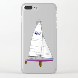 470 Olympic Sailboat Clear iPhone Case