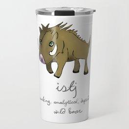 ISTJ MBTI Spirit Animal Wild Boar Travel Mug