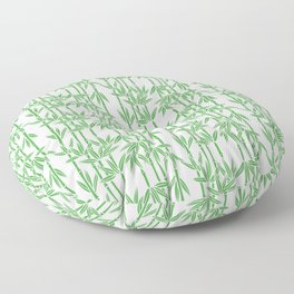 Bamboo Rainfall in White/Sullivan Green Floor Pillow