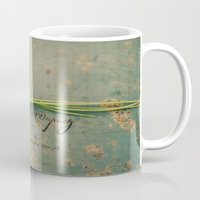 clover Mugs featuring clover by Beverly LeFevre