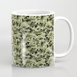 Military Camouflage Pattern - Green White Black Coffee Mug