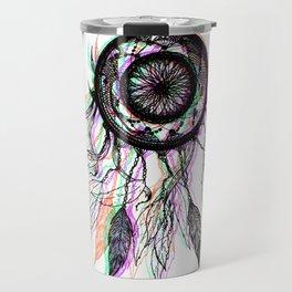 Modern Artistic Native American Dreamcatcher Travel Mug