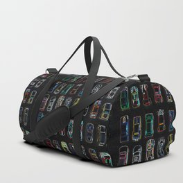 Neon Toy Cars Duffle Bag