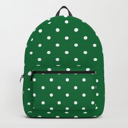 Dotted (White & Dark Green Pattern) Backpack