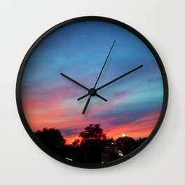 Fire over the Midway Wall Clock