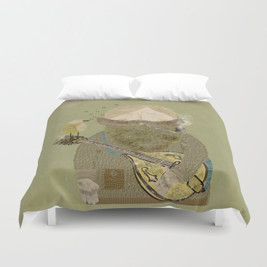 mornings song Duvet Cover