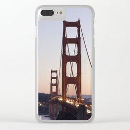 Golden Gate Bridge at Twilight Clear iPhone Case