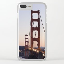Golden Gate Bridge at Twilight Clear iPhone Case