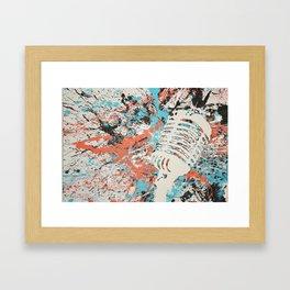 Paint Out Loud-Mic Framed Art Print