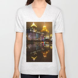 Reflections // Passages in time Unisex V-Neck