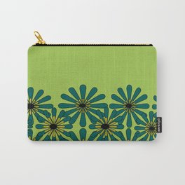 Green Flower Pattern Carry-All Pouch